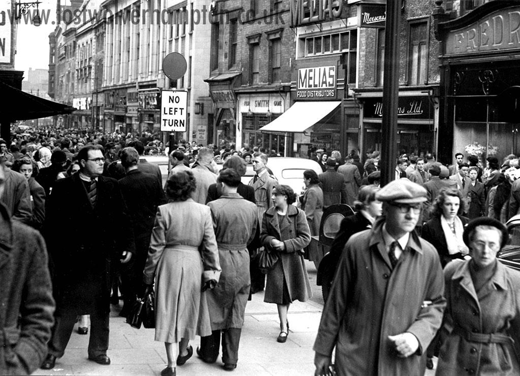 Fish on display in-between the wars in Wolverhampton's original Retail Market, Cheapside.
