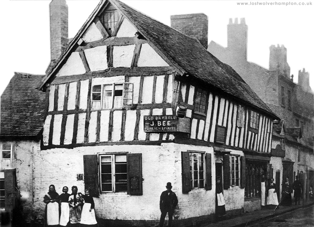 """The """"Old Barrell"""" Inn was a timber-framed house, where as far back as the sixteenth century, stood on the corner of Bell Street, and Victoria Street."""