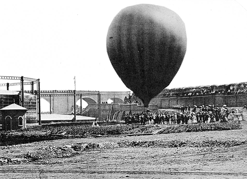 Victorian Era Balloon Ascent from Dunstall area in Wolverhampton