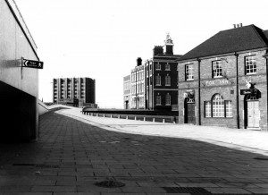 The Fox Inn and the underpass on the left 1974