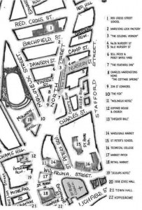Map of the lost North Street Circa 1950s