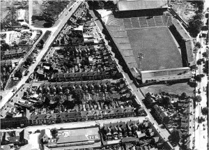 Aerial view of Red Cross Street School - centre foreground