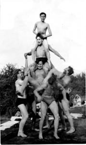 Fun at the Swancote swimming pool 1950