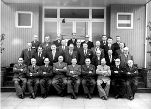 Bert & Ted pictured front row far left, visit Park Royal with other popular Wolverhampton licensees
