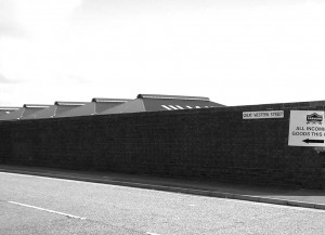 Great Western Street Goods Yard Wall as seen today in 2009