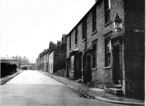 Looking from the goods yard wall, towards Stafford Street circa 1950