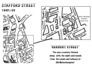My map of Stafford Street circa 1950