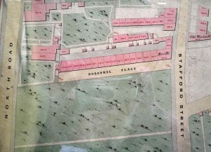 Street plan of Boscobell Place