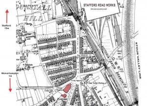 Map showing the Five Ways & surrounding area circa 1902