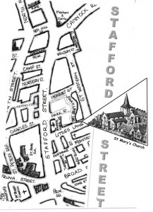 Map of Stafford Street circa 1950