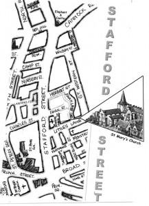 Map of Stafford Street circa 1950