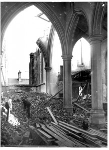 Mary's demise, the view inside St Mary's 1950