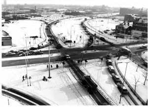 Stafford Street junction, January 1982