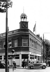 New Charles Clark building on the corner of Bath Road Circa 1950