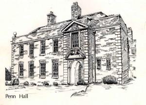 Penn Hall Drawing 1974.