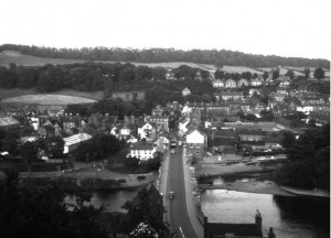 Bridgnorth Salop seen from the Castle Walk.
