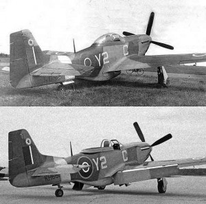 The Mustang American long range single seat, fighter and fighter bomber.